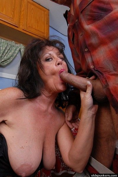Cock hungry granny Debella relishes a man\