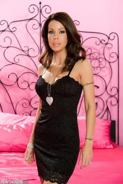 The turning on strip session from the luscious milf Tabitha Stevens playing with big tits