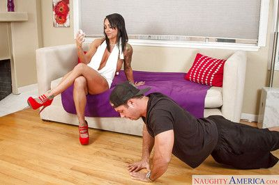 Latina mom Ashton Blake was drilled hard in her wide-opened snatch