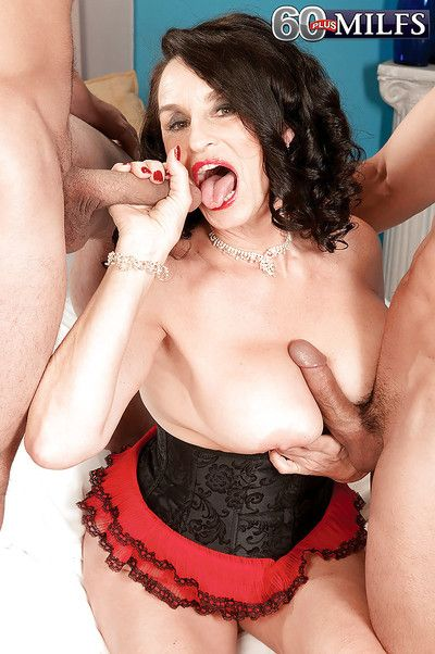 Luscious granny Rita Daniels in a hot granny boobs gangbang
