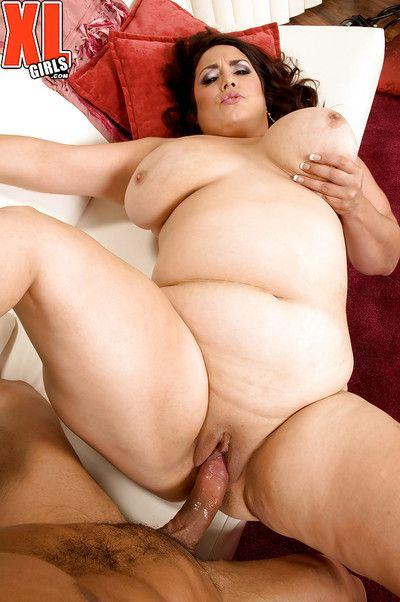 Older Latina BBW Rikki Waters tit fucking dick with huge boobs