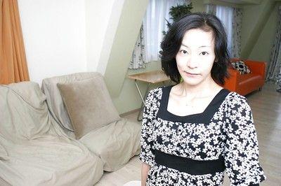 Naughty asian MILF Aya Sakuma undressing and exposing her holes