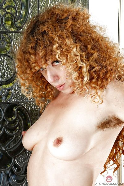 Older redhead Leona sliding panties aside for flashing up upskirt bevear