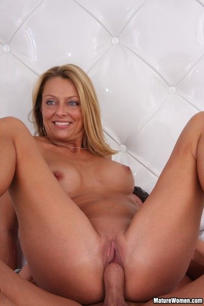 Sex hungry milf Brenda James takes cock in her pretty tight shaved pussy