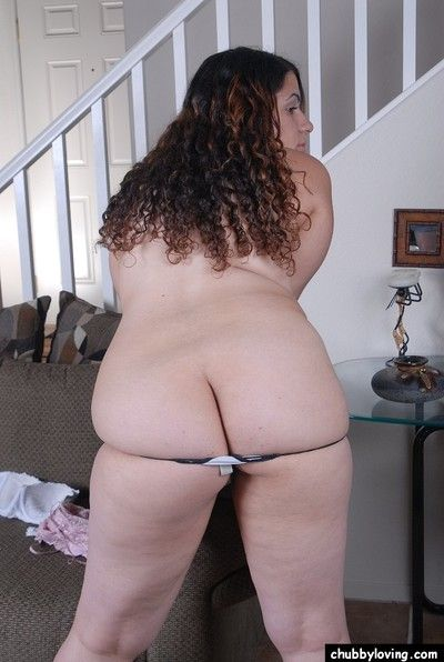 Latina BBW Mercedez pulls panties aside to spread fat hairy twat