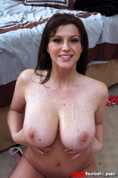Bosomy milf Sara Stone plays with huge globes and beads the mouth on stiff member