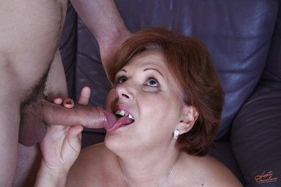 Lecherous granny has a hardcore sex with a horny younger guy
