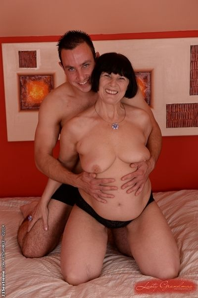 Hardcore fuck of busty granny Margo T. and her young lover