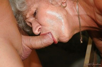 Chubby granny with big flabby tits is into hardcore BDSM fucking