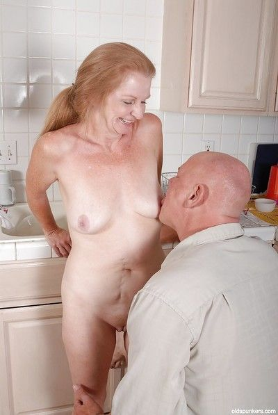 Undressing and ass fucking action features hot granny Tiffany