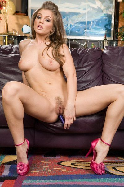 Vicious milf Rita Faltoyano rubs shaved pussy and sticks dildo in asshole