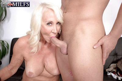 Horny granny Madison Milstar reveals saggy boobs before hardcore sex