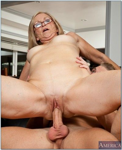 Dirty granny Annabelle Brady still can handle big cocks well