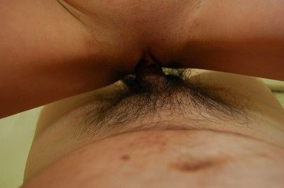 Lewd asian slut Harue Nomura gets her pussy shaved and cocked up