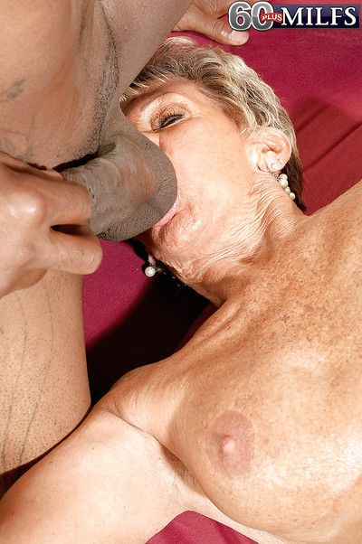 Fervent granny Sandra Ann takes every inch of a long dick inside her old pussy