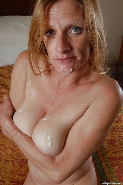 Big tits cowgirl TJ has her mature pussy nailed hardcore in lingerie