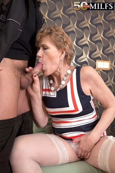 Horny dirty milf georgina sucking strangers dick and fuck