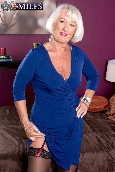 Assfucked mature devil with a blue dress