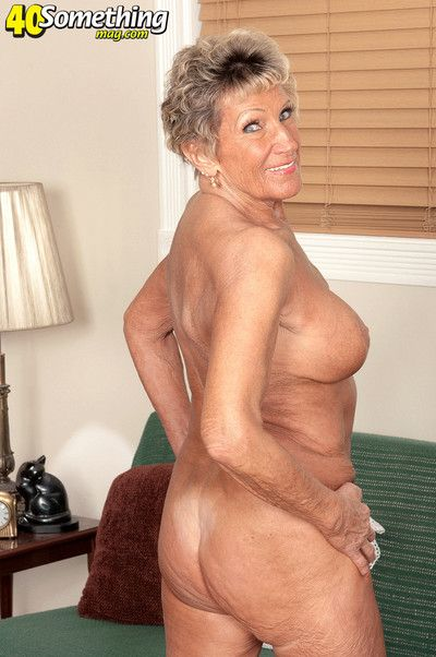 76yearold granny rubs her clit and fingering dry pussy