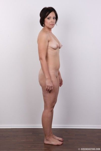 Mature wife poses naked