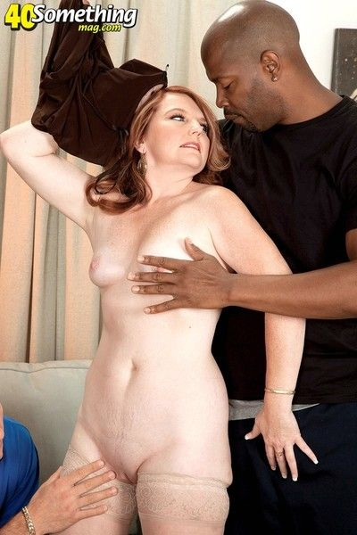 Mature wife fucked in interracial cuckold sex threesome