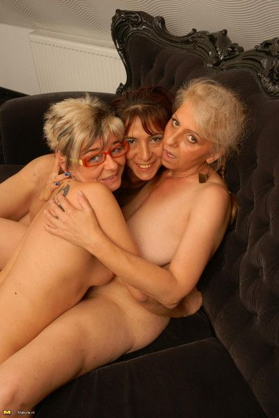 Three mature lesbians making it big