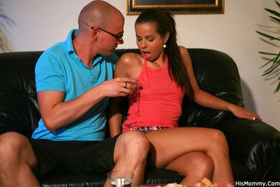 Slutty tanned gf strapons her boyfriends mother after a home party goes so wrong