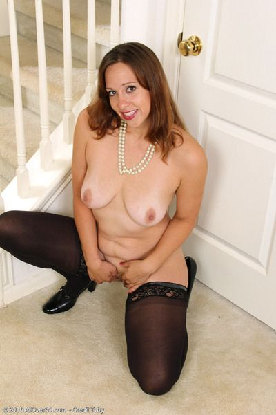 Gorgeous Cassandra Johnson in black and blue