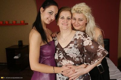 Mature old and young lesbian pary
