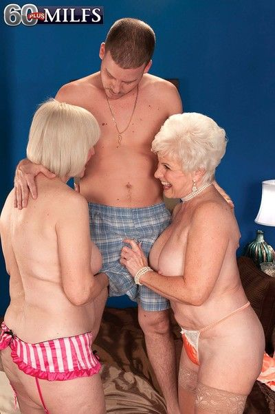 This lucky guy gets to fuck these sexy old milf whores