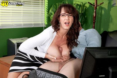 Horny mature with huge natual tits