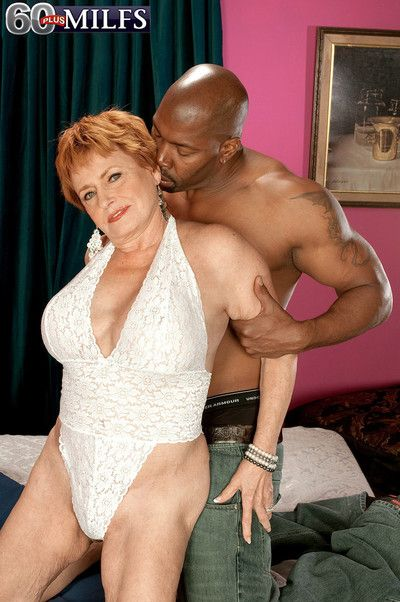 Beautiful black stud fuck granny