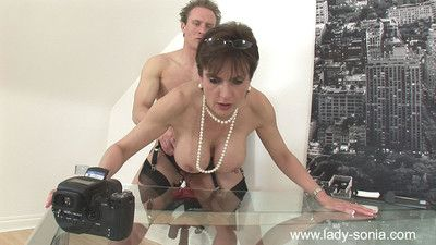 Glamorous milf lady sonia fucks her own photographer