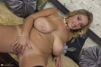 Hot big breasted mom getting very naughty