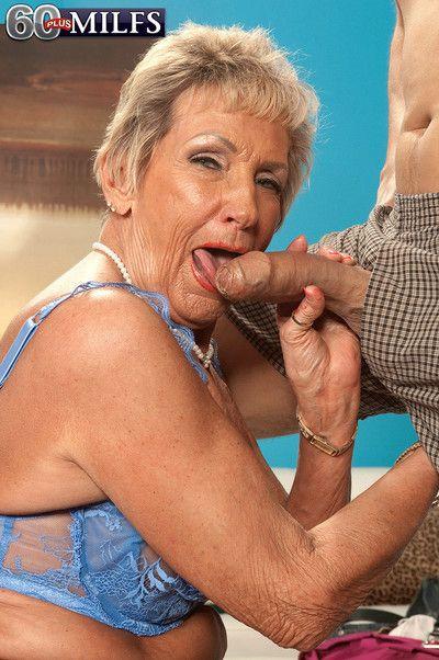 60 old whore sandra ann going hard on huge stiff dick