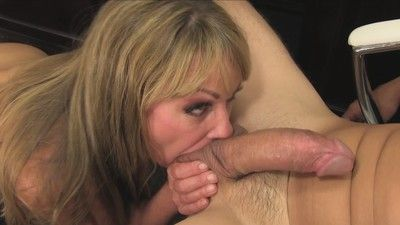 Horny titted milf licking stranger asshole