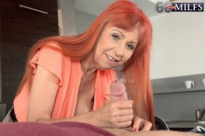 Dirty 60milf charlotta having a young cock to fuck