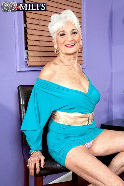 Older granny show body