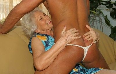 Sex hungry granny fucking with young guy