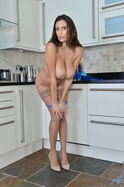 Busty sensual jane shows her pussy