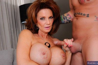 Horny titted milf getting fucking pleasure