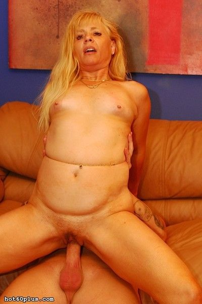 Hot blonde granny loves the big younger cock