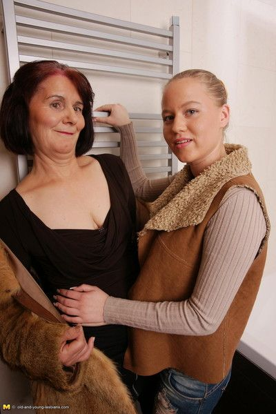 Horny old and young lesbian couple go wild