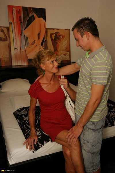 Horny housewife fucking her boy toy