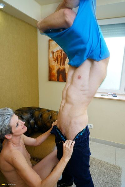 Horny housewife playing around with her younger lover
