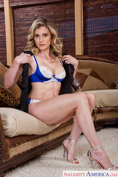 Babe mom Cory Chase poses on high heels and spreads her legs