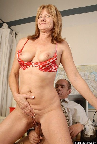 Sweet granny Nicki was fucked hard by her older boss in pussy
