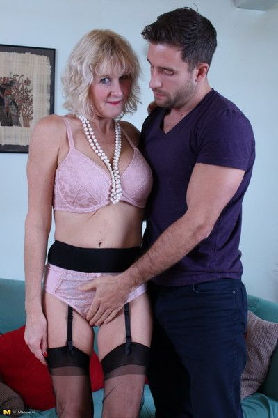Naughty british housewife getting it in the livingroom