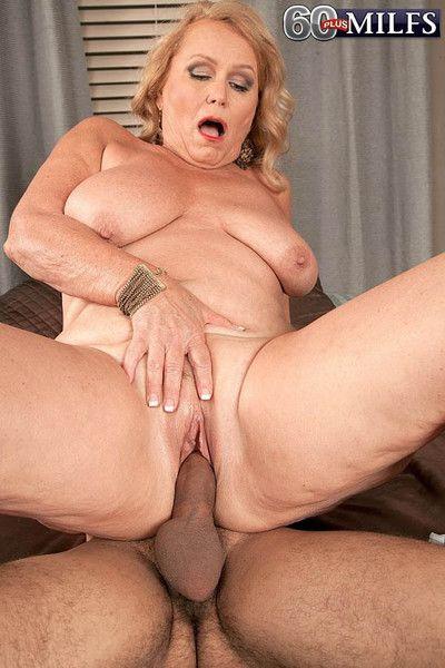 Dirty blond granny slut alice riding stiff cock