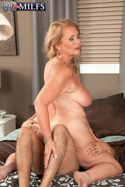 Dirty blond granny slut alice riding stiff cock